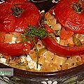 Tomates farcies aux pâtes.