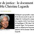 Affaire TAPIE : Christine <b>LAGARDE</b> mise en examen en 2014