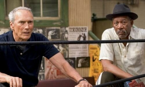CLINT EASTWOOD & MORGAN FREEMAN dans Million Dollar Baby