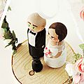 Cake toppers romantique