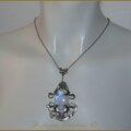 Collier Pendentif Mariage Elfique Medieval <b>fantasy</b> Labradorite Elven Elvish Wedding Necklace