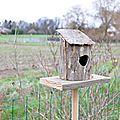 Faire soi-même : une <b>cabane</b> à oiseau