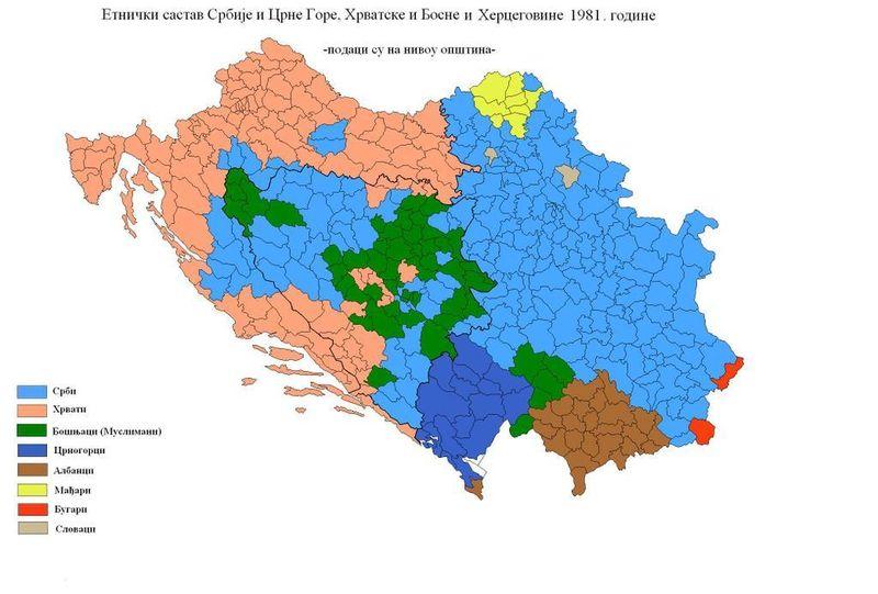 Etnicka Karta Jugoslavije Karta