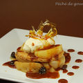 Des pommes, des poires à la façon des demoiselles Tatin, caramel à la fleur de sel d'après François Paul