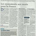 La charge de l'entretien des monuments aux morts par les communes (article La <b>terre</b>)