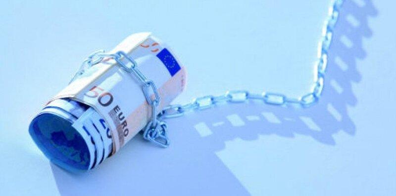 Euro billet chaîne