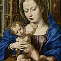"World record price for Jan Gossaert's painting ""<b>Madonna</b> and Child"" at the Swiss auction house Koller"