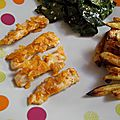 Poulet pané au <b>chips</b> et frites Weight Watchers