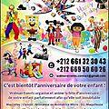Animation et Organisation des Anniversaires à Casablanca et Mohammedia 0661323043