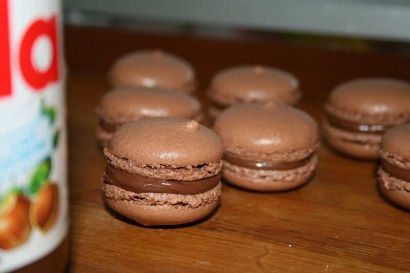 au nutella macarons au nutella macarons au nutella macarons au nutella ...