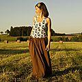 Débardeur & longue jupe... (challenge Bliss Cousette 2&3/8)