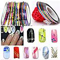 1 , 2 , 5 ou 10 rouleaux striping tape ongles nail art