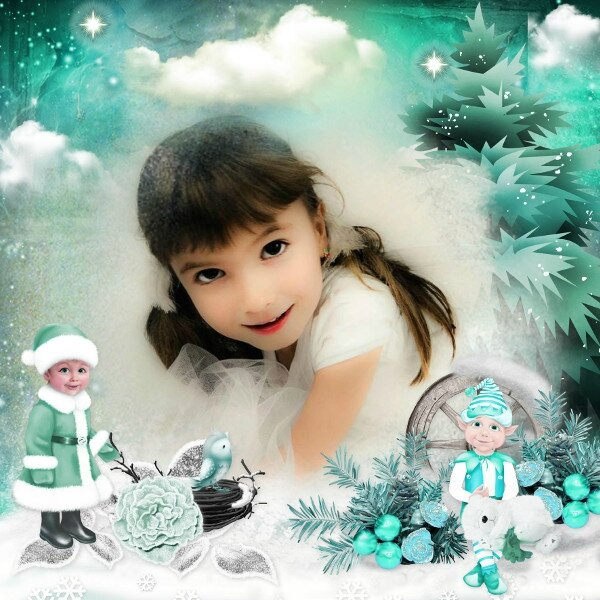 Kittyscrap - Noel Givré mini-kit + Adds-on- Photo Pixabay
