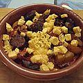 Pommes de terre sautées aillées aux chorizos et aux oeufs