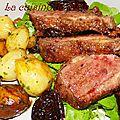 <b>Canard</b> croustillant aux figues et porto