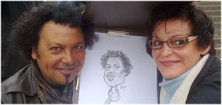 caricaturiste de rue