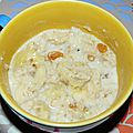 Porridge banane / raisins secs - WW