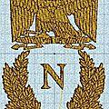 <b>Broderie</b> machine : emblème Napoleon