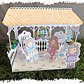 Maquette scrappée : Le kiosque du jardin et ses rocking chair (partie 2/2)