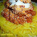 <b>Courgette</b> spaghetti à la bolognaise, version TMX