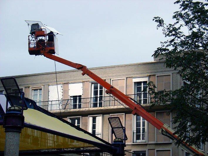 Sophie Marceau et Robert Hossein en tournage au Havre... 7261099