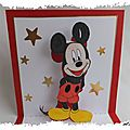 cARTe pop-up : Bon anniversaire de la part de <b>Mickey</b>