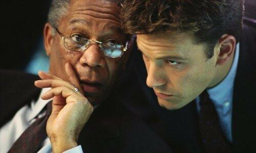 Morgan Freeman et Ben Affleck dans La Somme de toutes les peurs