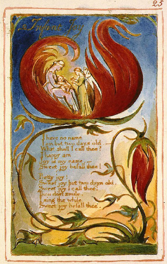Joie Nouveau Nee Poème De William Blake 1789infant Joy