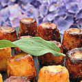 Le plaisir de se revoir, de Batz à Bréhat, mini <b>cannelés</b> apéritifs à la tome, au filet mignon séché au kari Gosse, à la sauge
