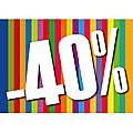 -40% Sur la catégorie déstockage de ma boutique Alittlemarket