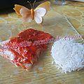 Lieu en papillote sauce champignons/mascarpone