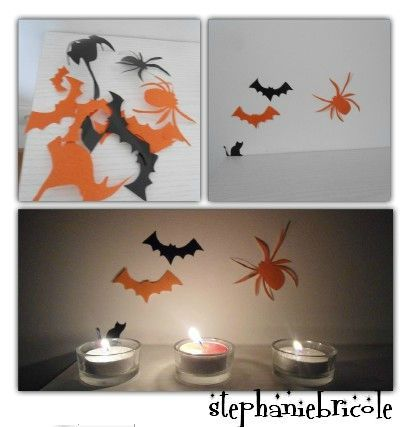 tuto diy id es de d co faire soi m me pour halloween stickers lampes. Black Bedroom Furniture Sets. Home Design Ideas