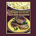 Boulette au <b>boeuf</b> coeur mozzarella sauce douce aux poivrons