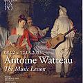 ANTOINE <b>WATTEAU</b>, LA LECON DE MUSIQUE