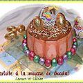 Charlotte à la mousse de chocolat, recette pas à pas ... Joyeuses fêtes de pâques!