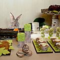 SWEET TABLE - DECORATIONS POUR TABLE GOURMANDE THEME <b>NOEL</b> NATURE