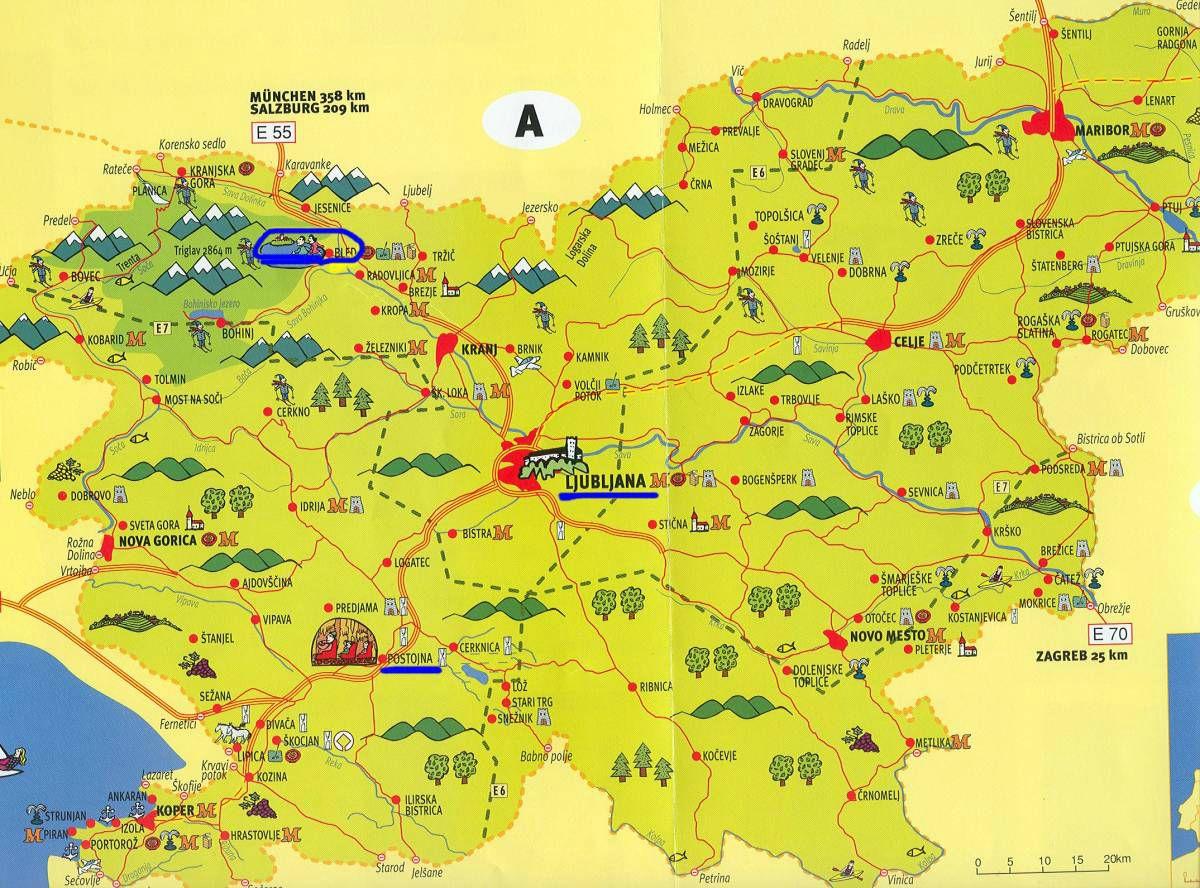 Slov nie carte touristique for Carte touristique