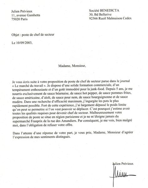 lettre motivation super u exemple
