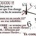 <b>changement</b> <b>d</b>'<b>heure</b>