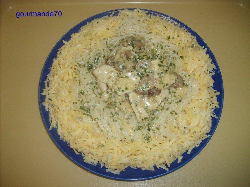 Spaguetti Au Poulet Et Sauce Blanche Le Blog De Hanane