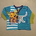 T-Shirt animal hybride jagzèbre, 18 mois