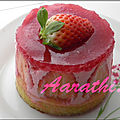 <b>Strawberry</b> Mirror cake for Saint Valentin.
