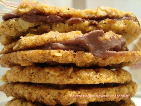 galettes flocons d'avoine et chocolat 2
