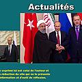 Réunion trilatérale à Sotchi sur la <b>Syrie</b> : «Une vraie chance» de mettre fin au conflit pour Poutine