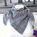 Chèches rayés au tricot