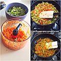 Saltimbocca de dinde aux légumes.
