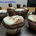 <b>Cupcake</b> kinder bueno et nutella