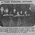 Premier Congrès international antifasciste - Berlin, 1929