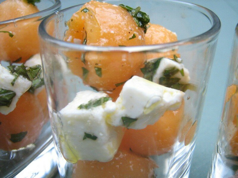 présentation jambon melon