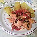 Fricassée de crevettes roses au manioc